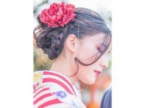 [京都清水寺和服出租]☆和服租賃計劃,試圖在旅遊和服描述圖像的京都魅力