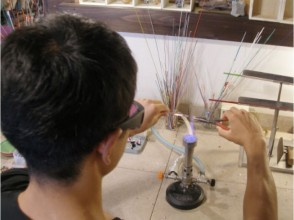 【Kyoto · Glassworker】 Made with Kyomachiya! Experience making tea spoon of glass! Explanation image of charm