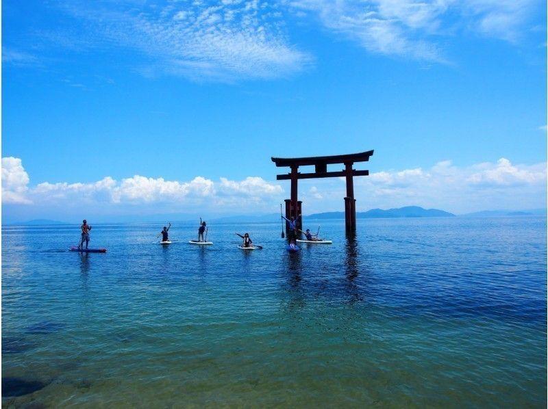 """琵琶湖「白鬚神社(白髭神社)-」でSUP体験"""