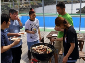 [BBQ · Miura] Recommended for family! Enjoy local produce BBQ in front of the sea! Explanation image of all set attractive features such as ingredients, grill etc.