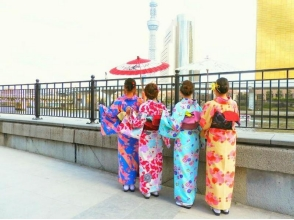 [Tokyo · Asakusa] Easy from Asakusa Station in 30 seconds! Explanation image of charm of [Kimono rental Nakayoshi Plan / 2 to 4 people]