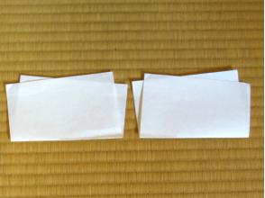 プランの魅力 Kaishi paper folded into double. Left is for a Buddhist service and the right is for an auspicious event. の画像