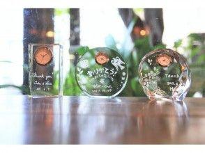 プランの魅力 You can choose from 3 types of glitter glass clocks ☆ の画像