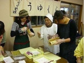 [千葉夷隅/房總]區域菜餚裝飾表★厚卷壽司製作經驗(基礎課)從東京90分鐘!的描述圖像的魅力