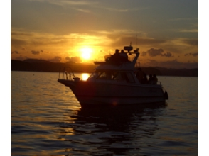 【Hokkaido Cruises】 Exquisite beautiful nature Image of the charm of Lake Saroma Lake Sunset Cruise