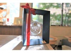 【東京☆新橋駅歩5分  ガラス時計ギフトコース】いつまでも心に残るプレゼント☆サンドブラスト時計の魅力の説明画像