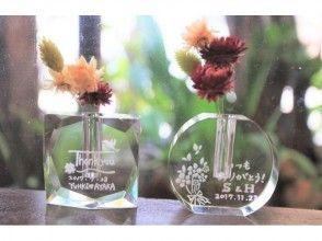 プランの魅力 You can choose from two types of glitter flower base shapes ☆ の画像