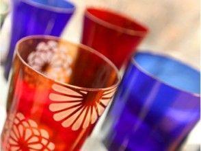 プランの魅力 It is a glass made by a craftsman of Edo Kiriko blowing one by one. の画像