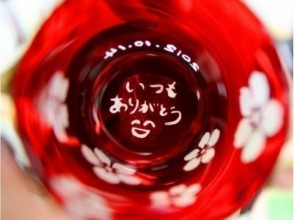 【 東京☆新橋駅歩5分 色グラスギフト】センスも光るキラキラグラスのプレゼント☆サンドブラストガラスの魅力の説明画像