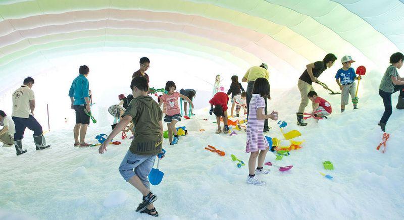 Osaka Castle Water Park Snow Park
