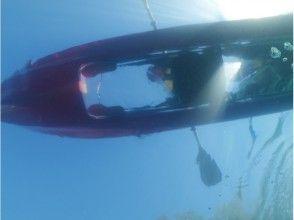 プランの魅力 船の底が透明で平らなクリアカヤック★ の画像