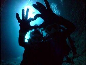 プランの魅力 您可以在標準的水下時間欣賞藍色洞穴! の画像