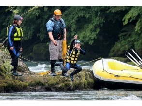 [Hokkaido Tokachi River] family rafting-half-day course (W rafting) of the charm of the description image