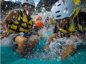 プランの魅力 splash! !! !! The appeal of rafting is the soaking of the whole body の画像