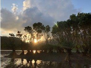 プランの魅力 山に沈む夕日 の画像