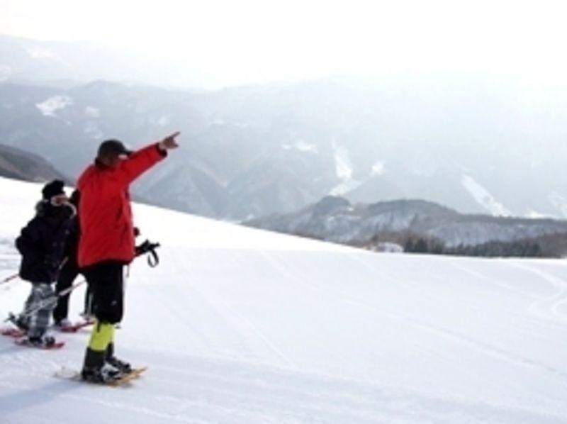プランの魅力 スキー場のゲレンデやうわの高原など、今年は但馬内のいろいろな場所を利用してスノーシュー。探検気分! の画像