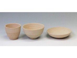 プランの魅力 絵付け体験用の器は ゆのみ、お茶碗、平皿の3種類 の画像