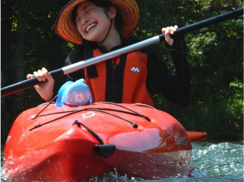 プランの魅力 笑顔がはじける小野川湖カヌー の画像