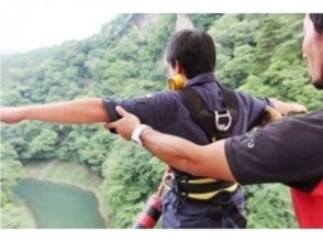 """[Gunma, Sarugakyo] bungee jump from a height of 62m in the hot springs! Charm of description image of """"Sarugakyo bungee"""""""
