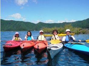 [Yamanashi Motosu] graceful moments overlooking the Mount Fuji! Kayaking experience the charm of description image of (half-day course)