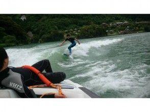 プランの魅力 Ride the swell created by the boat with a surfboard! の画像