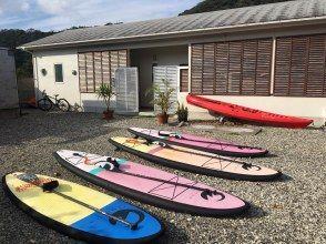 朝仁海岸沿いのアマニコビーチハウス集合!