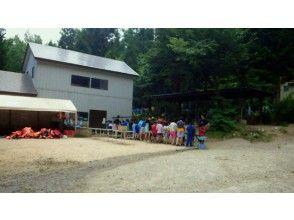 午前コース青木湖湖岸のボートハウス集合