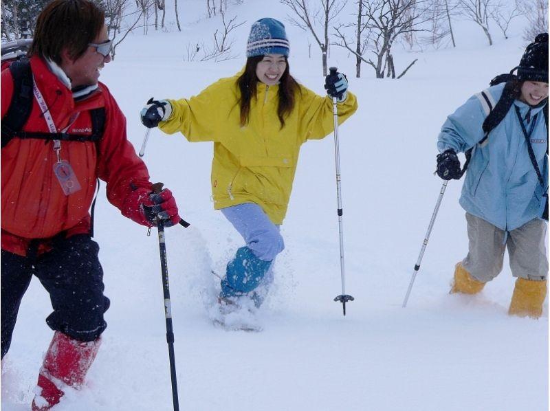 雪の上を歩く感触にわくわく