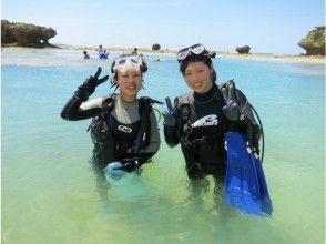 海に入り浅瀬で呼吸練習