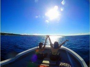 シュノーケリングの後はボートで戻れます。
