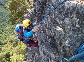 Rock ridge climbing
