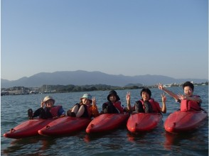 Take a commemorative photo in the middle of Lake Biwa!