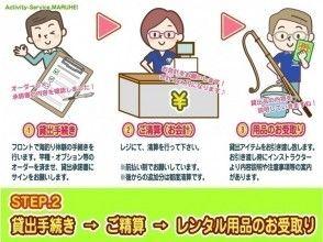 STEP.2【貸出手続 き→ ご精算 → レンタル用品のお引き受け】