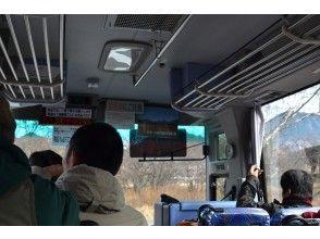 低公害バスで会場へ!