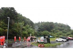 こちらが岐阜バンジーの集合場所(受付です) ※駐車場もございます。
