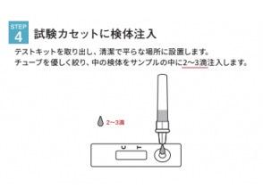 ステップ4)試験カセットに検体注入