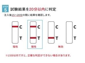 ステップ5)試験結果を20分以内に判定