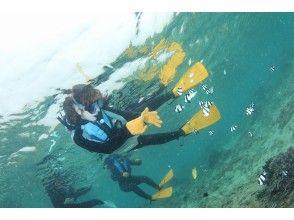 「青の洞窟」を堪能したら、洞窟から外の海へ出てシュノーケリング(水中:約30~40分)