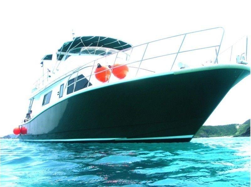 It is sailing for the national park Kerama Islands (Zamami / Tokashiki / Akajima etc).