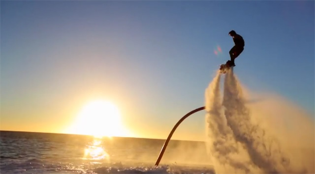 movie flying the sky with water pressure flyboard fly board it