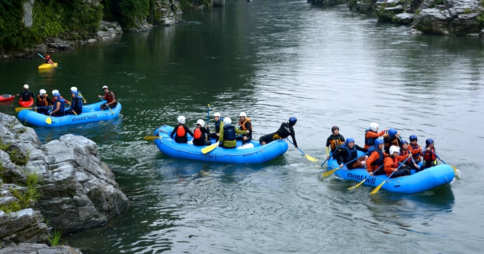 Minakami can also be reached by train Rafting point close to Tokyo