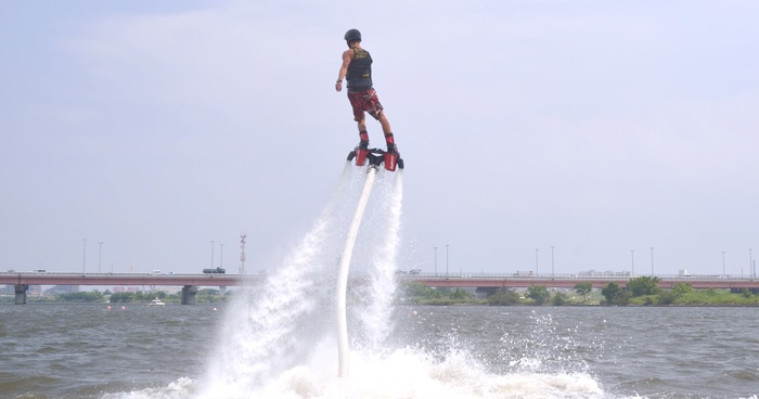 Flyboard is a new and fun marine sports