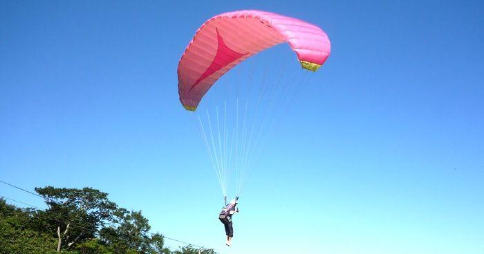 滑翔傘可以在關東也享受