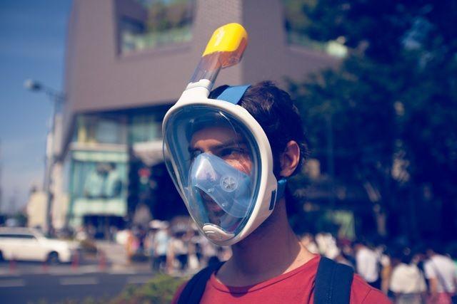 口からでも、鼻からでも、楽に呼吸が出来るシュノーケルマスク「Abyss」登場!