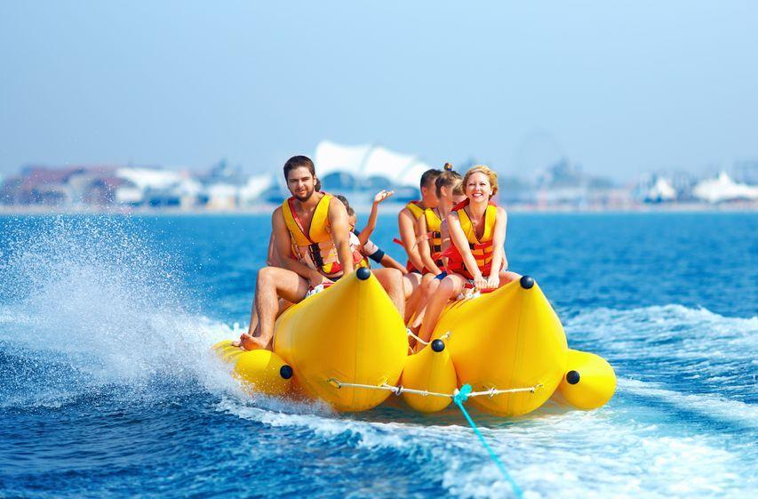2015年の夏だからバナナボートに乗ってみようの紹介