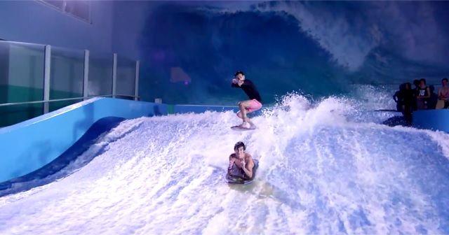 インドアサーフィンを楽しむ動画が凄い!!
