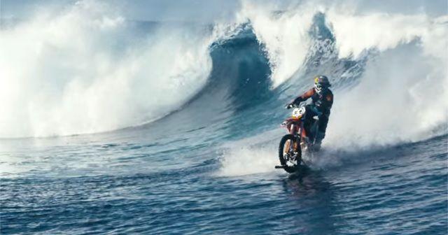 これ凄い!!バイクでサーフィンする『DC SHOES: ROBBIE MADDISON'S 「0PIPE DREAM」』!!!