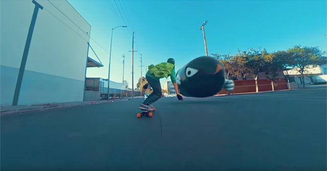 マリオカートならぬ『Mario Skate(マリオスケート)』が面白い!!