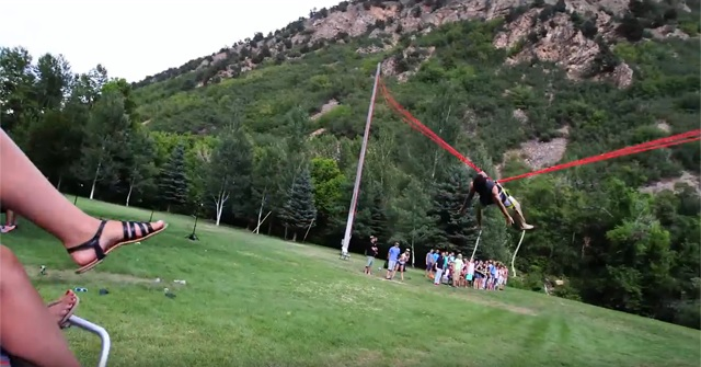 how to make a human bungee slingshot