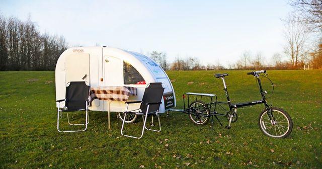 話題騒然!!自転車で移動できるキャンピングハウス『Wide Path Camper』!!